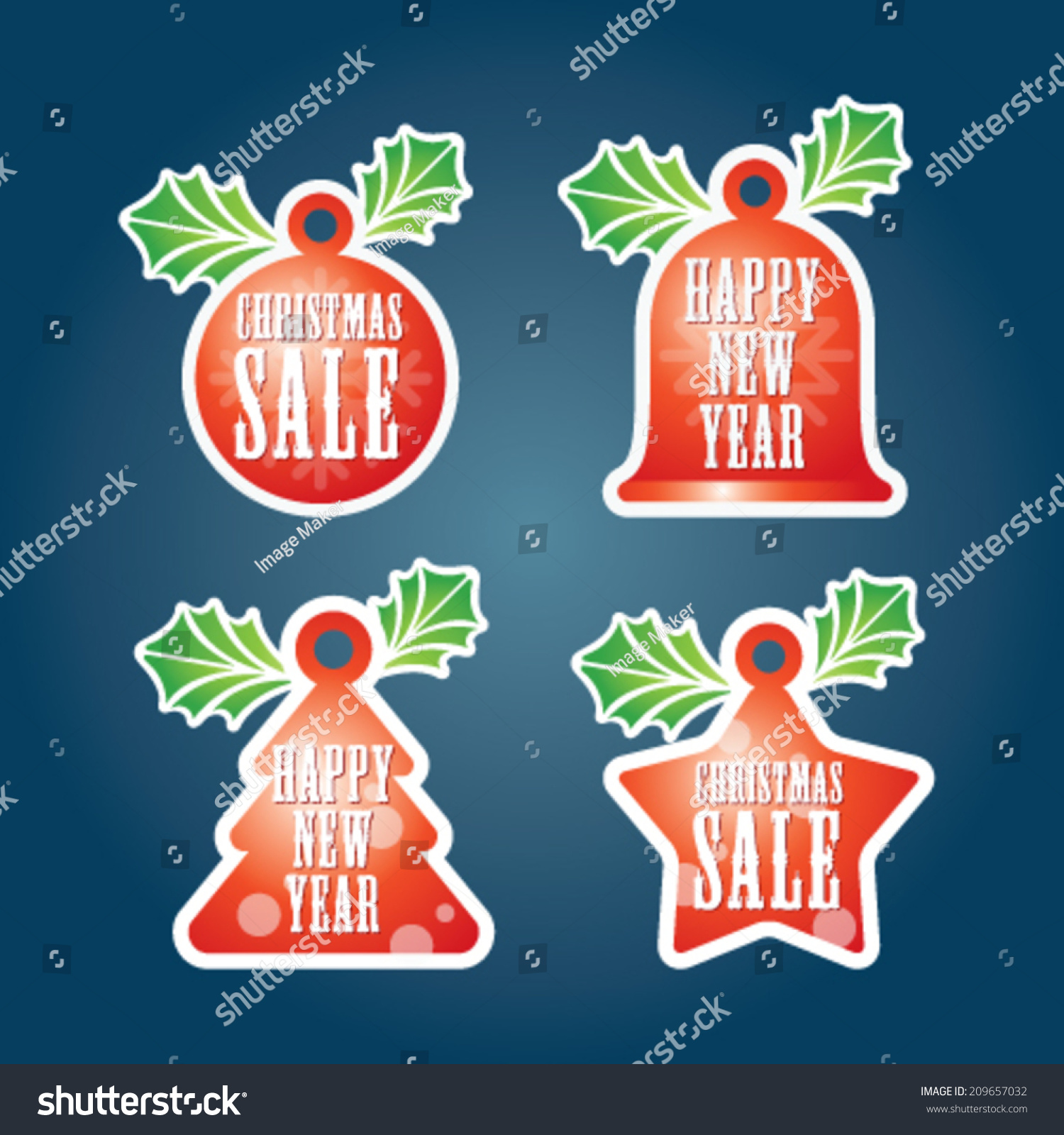 Seasonal Year End Sale Tag Bubles Stock Vector Royalty Free