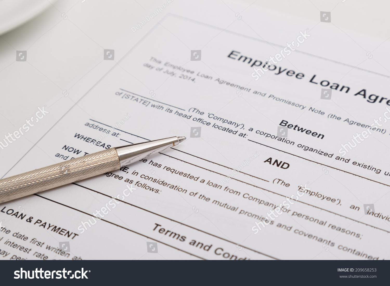 Employee Loan Agreement Ez Canvas