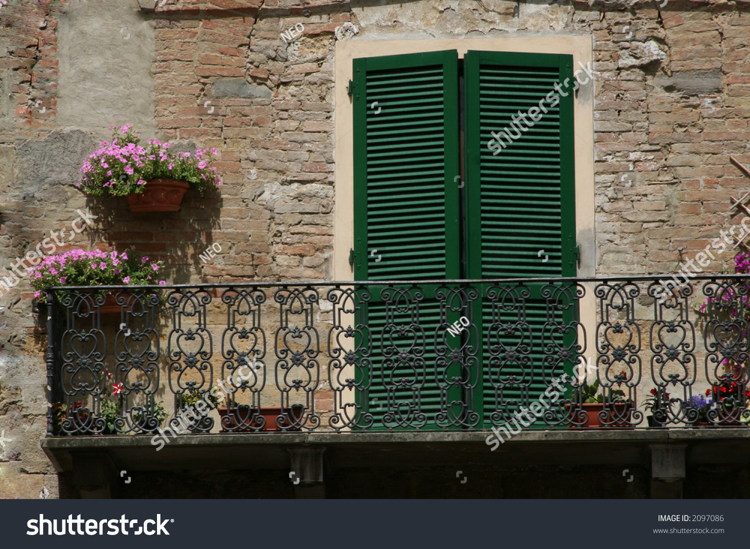 Italian balcony stock photo 2097086 shutterstock for Balcony in italian