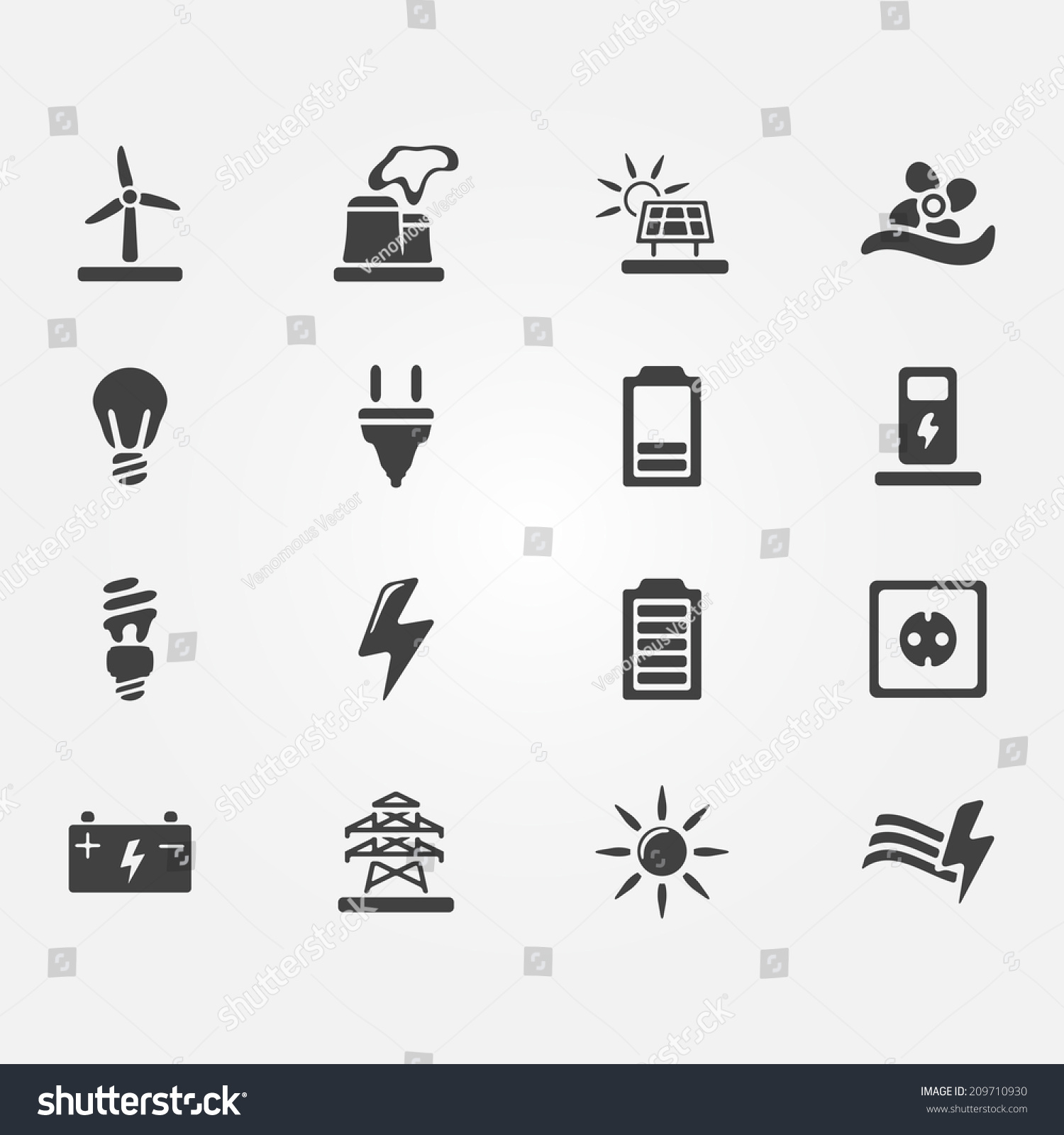 Electricity Symbols - Roslonek.net