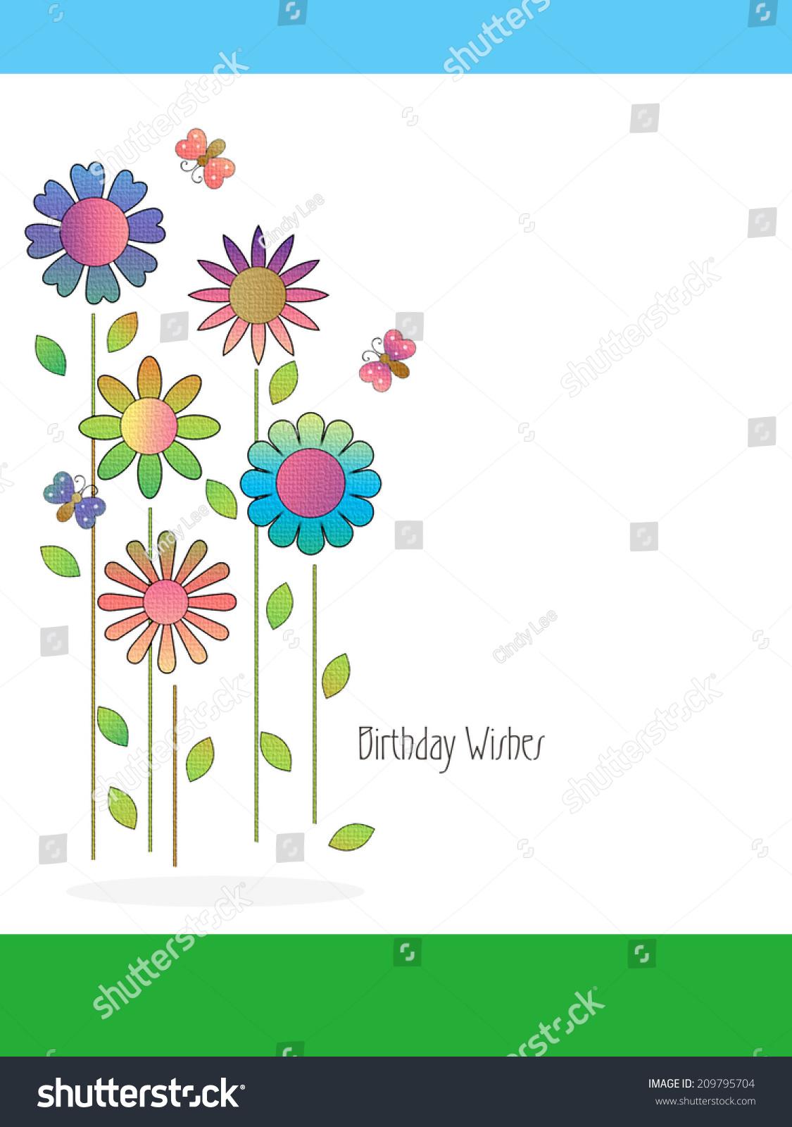 Flowers birthday wishes stock illustration 209795704 shutterstock flowers birthday wishes izmirmasajfo