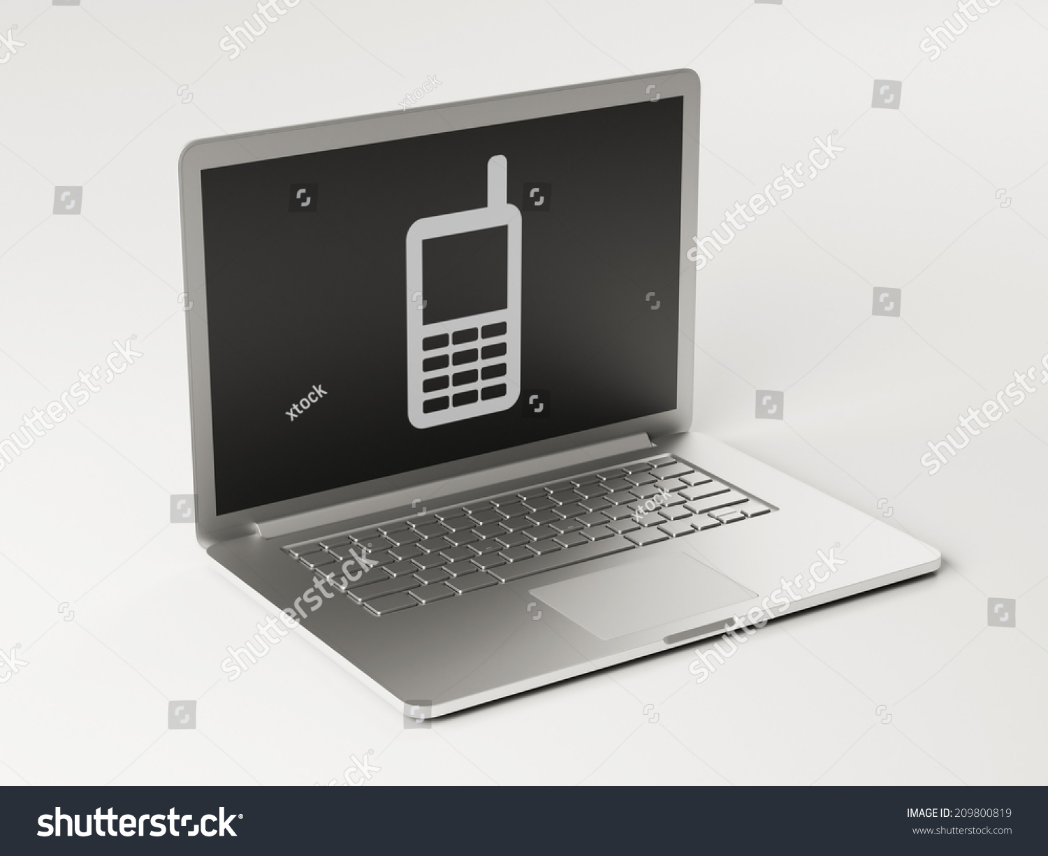 high resolution laptop contact icon stock illustration 209800819