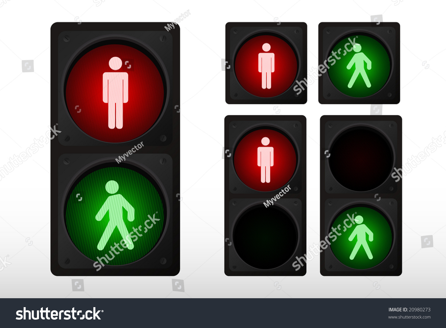 Illustration Pedestrian Traffic Light Stock Vector ...