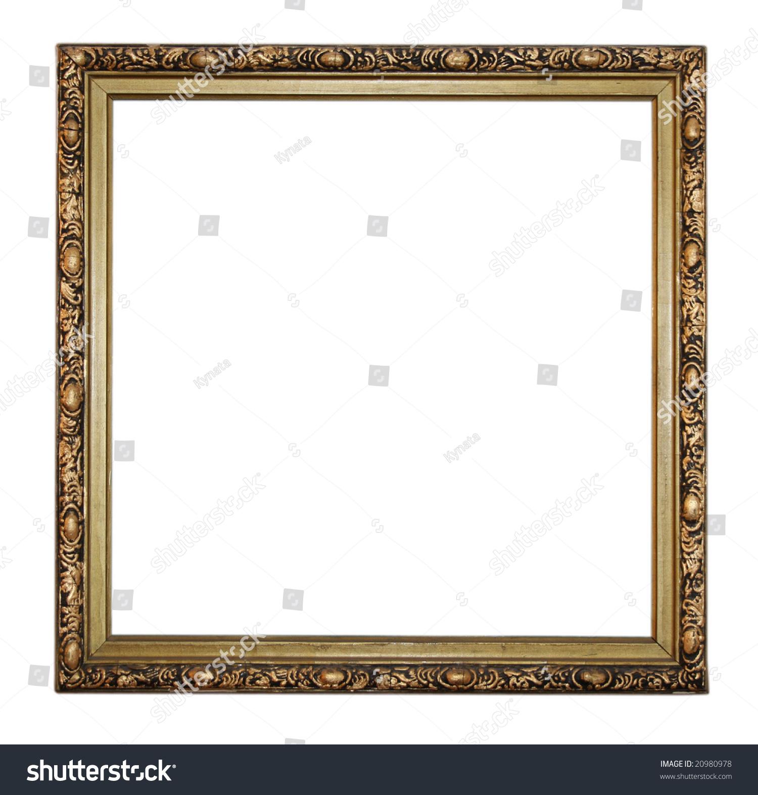 gold vintage square frame