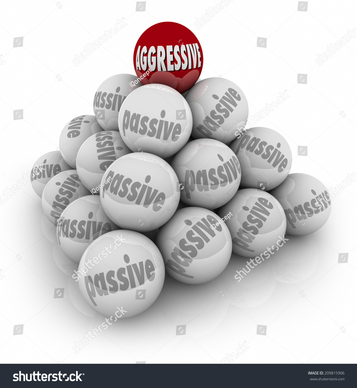 Aggressive Word On Red Ball On Stock Illustration 209815906 ...