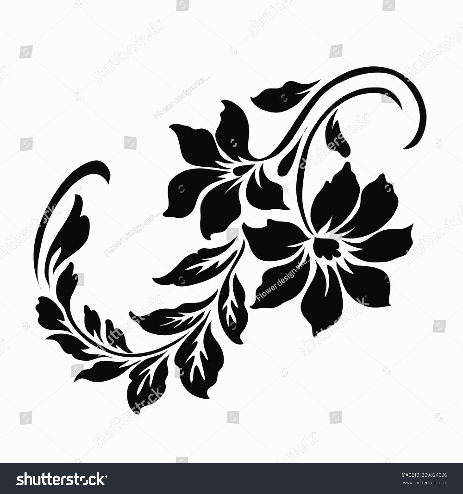 Flower Motif Design Stock Vector Royalty Free 209824006 Shutterstock