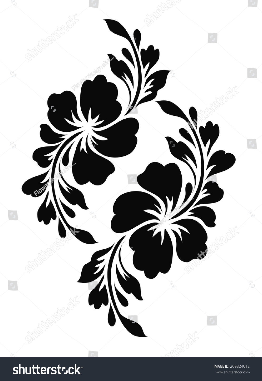 royalty free flower motif for design 209824012 stock photo. Black Bedroom Furniture Sets. Home Design Ideas