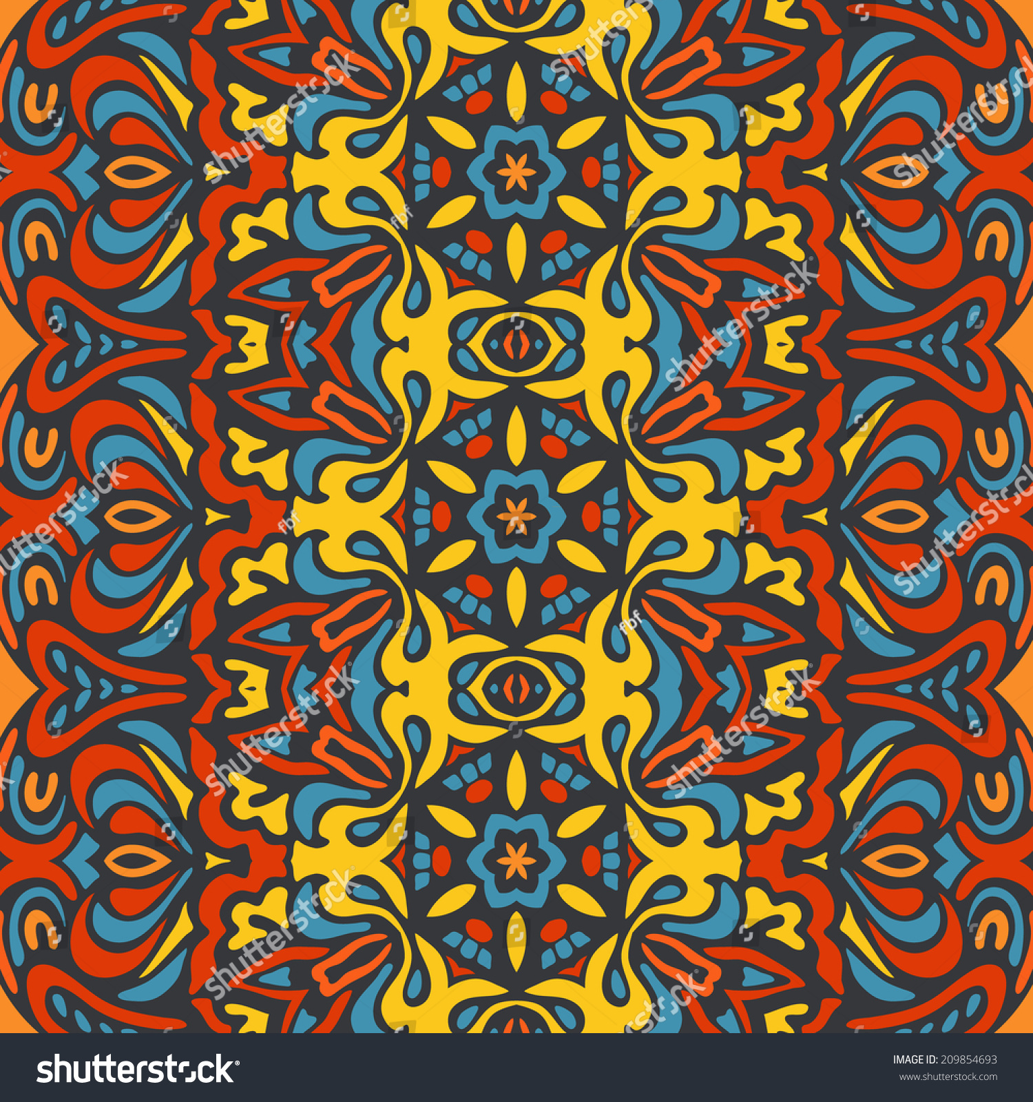 ethnic tribal design colorful african pattern stock