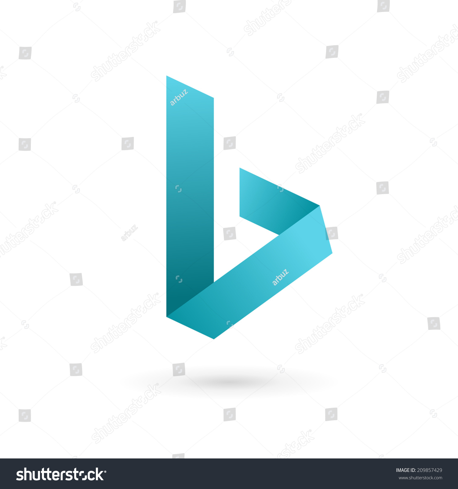 Letter b logo icon design template stock vector 209857429 letter b logo icon design template elements vector color sign pronofoot35fo Image collections