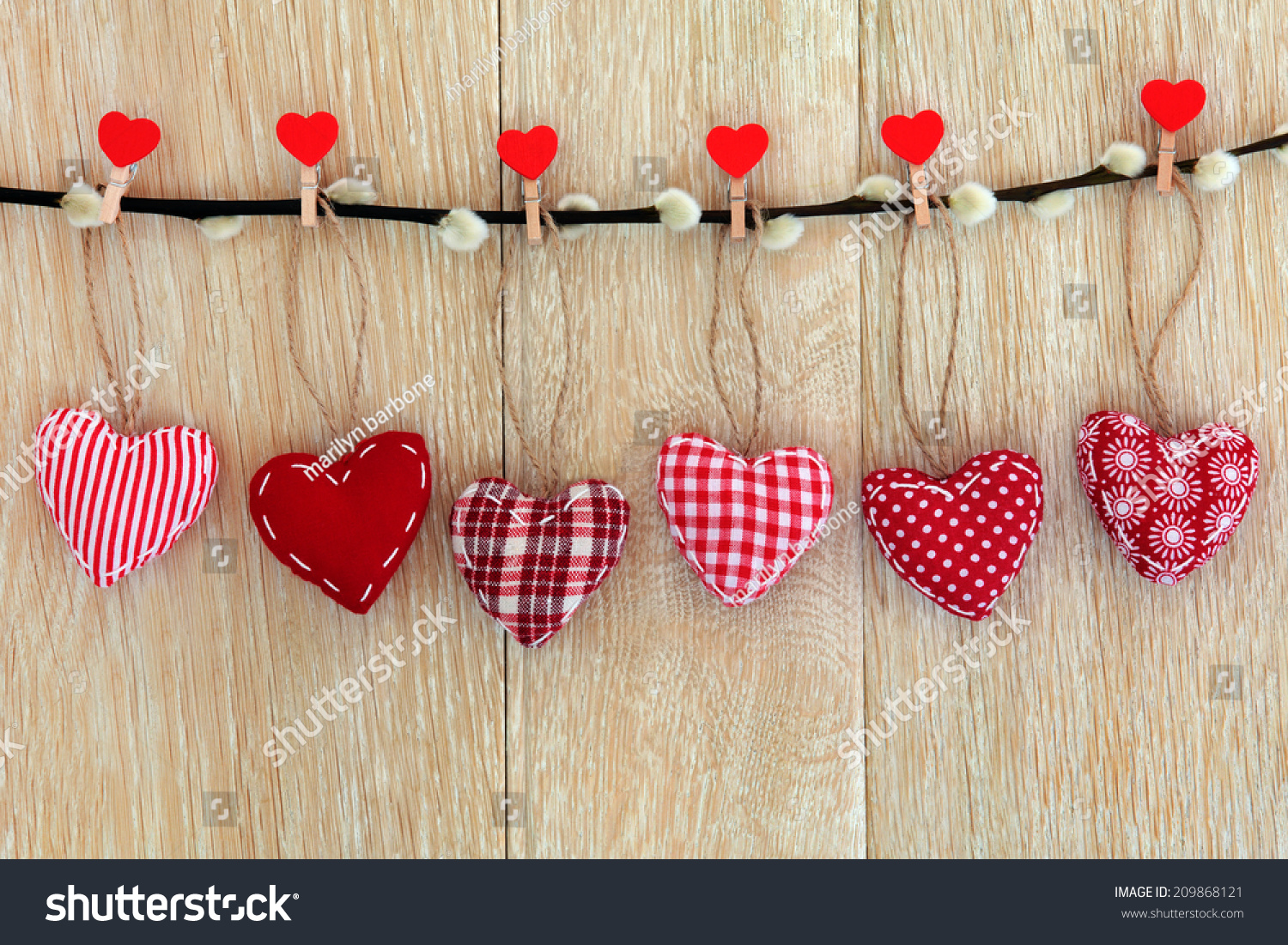 Red Heart Centerpieces : Red heart shaped christmas decorations hanging stock photo
