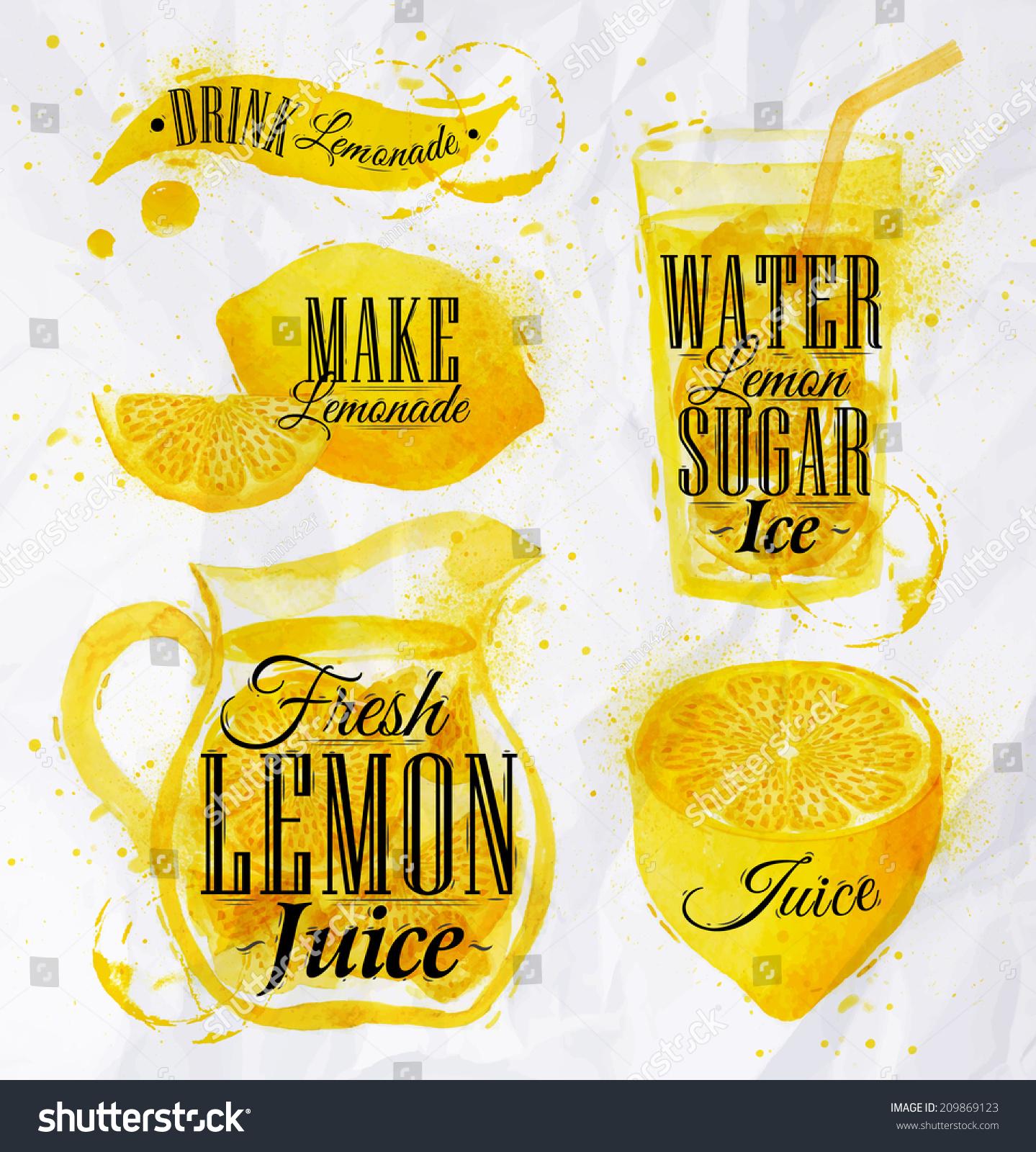 pointer drawn pour lemonade lettering drink stock vector 209869123 shutterstock. Black Bedroom Furniture Sets. Home Design Ideas