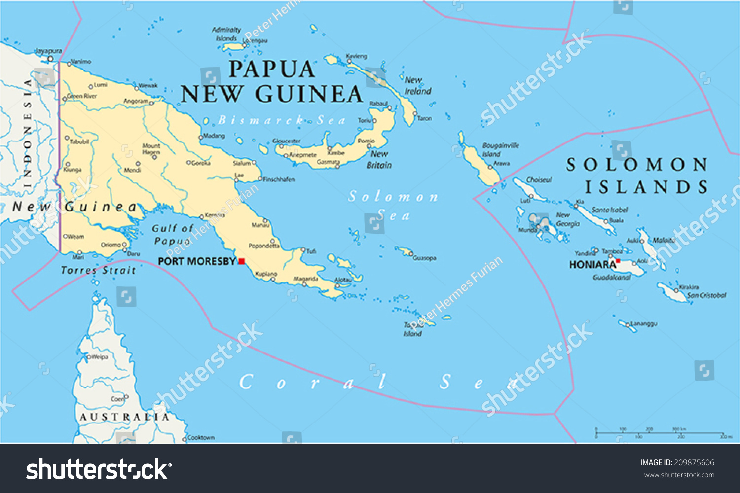 Papua new guinea political map capital vector de stock209875606 papua new guinea political map capital vector de stock209875606 shutterstock gumiabroncs Gallery