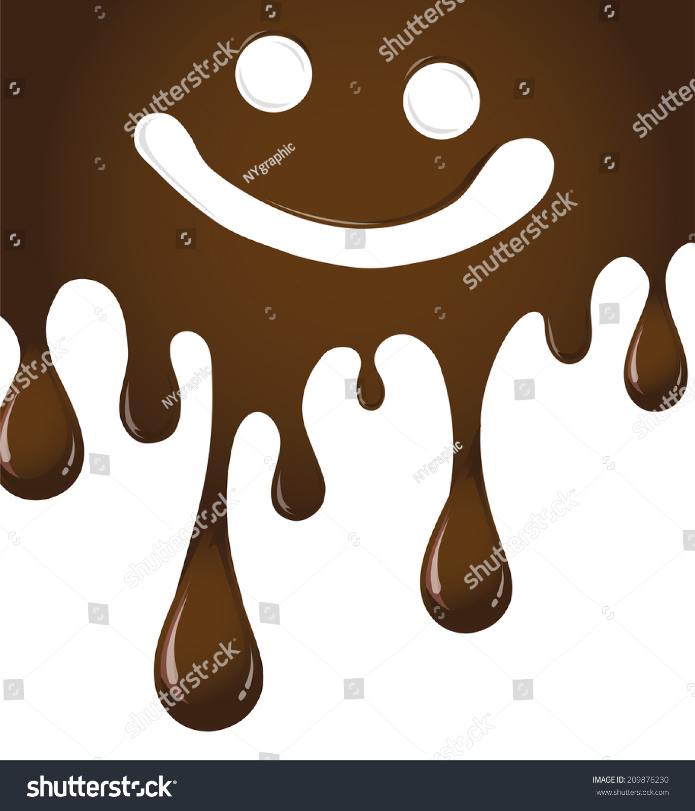 ... of Melted c... Dripping Chocolate Background