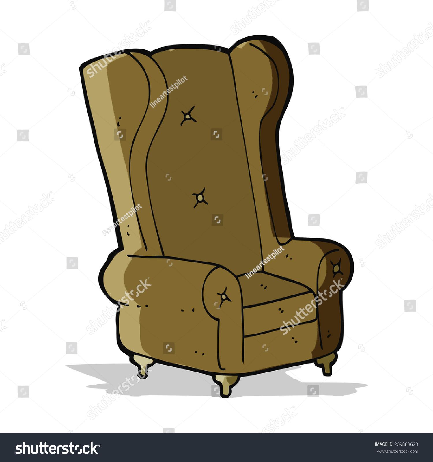 Cartoon Old Armchair Stock Vector 209888620 - Shutterstock