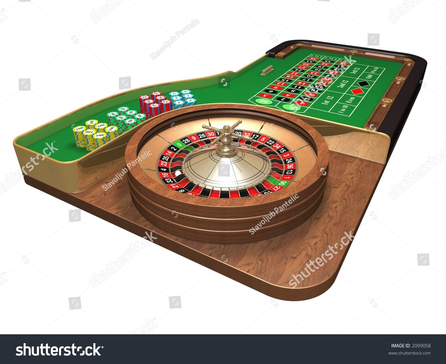 rendered roulette table over white background stock photo 2099058 shutterstock. Black Bedroom Furniture Sets. Home Design Ideas