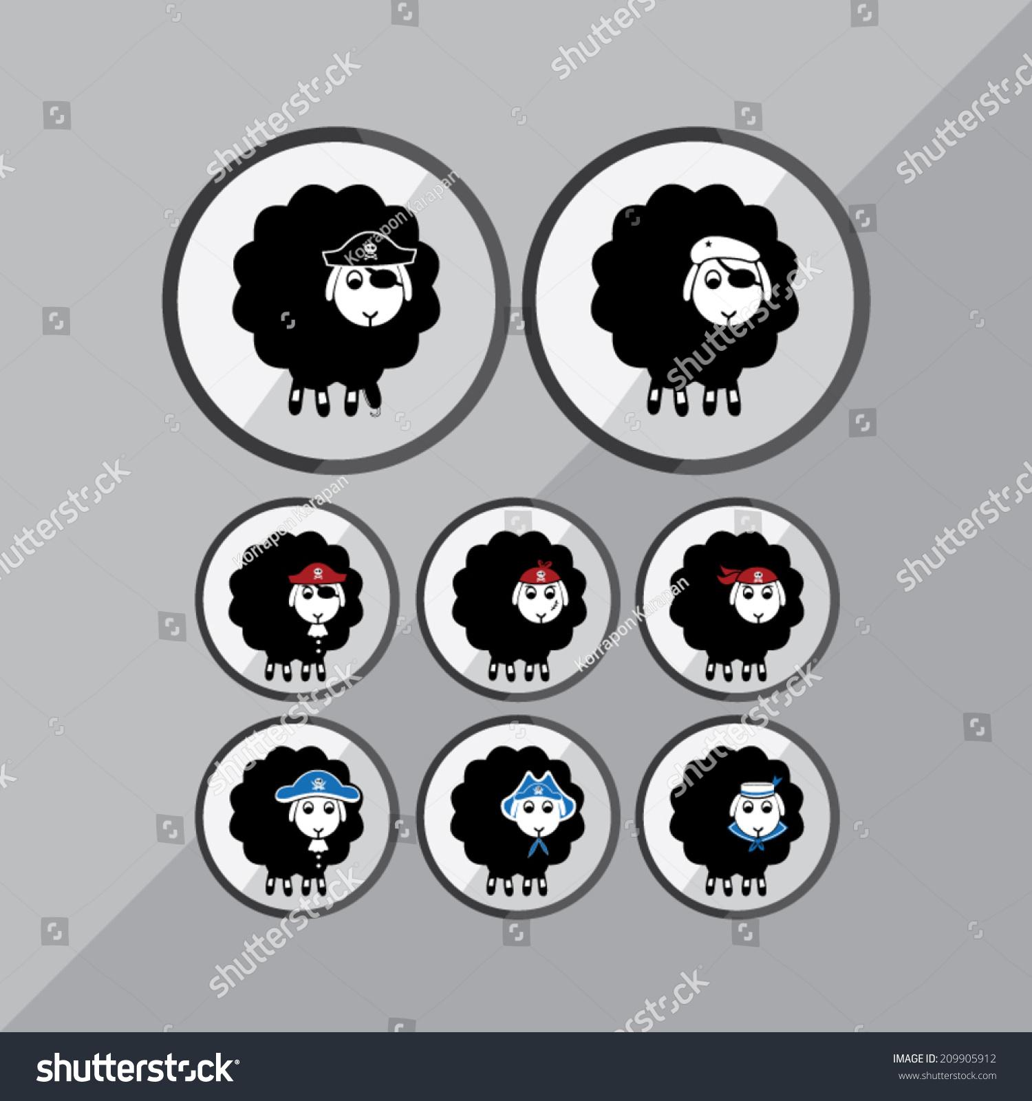 pirate sheep stock vector 209905912 shutterstock