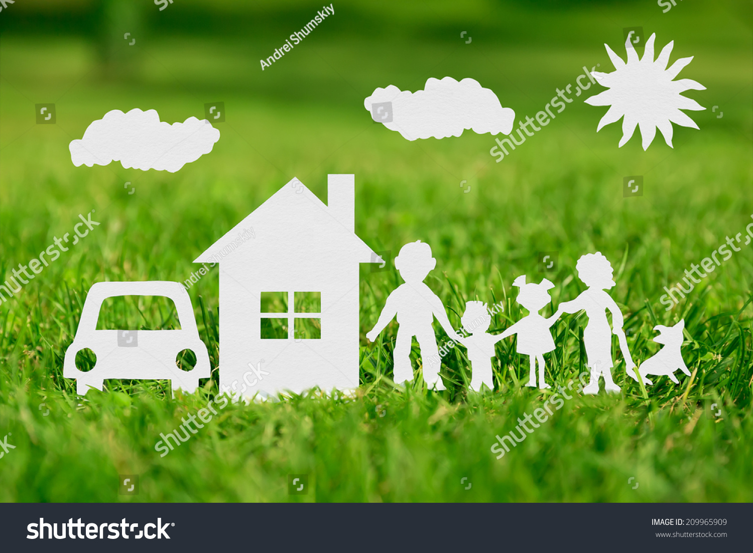 House on green grass