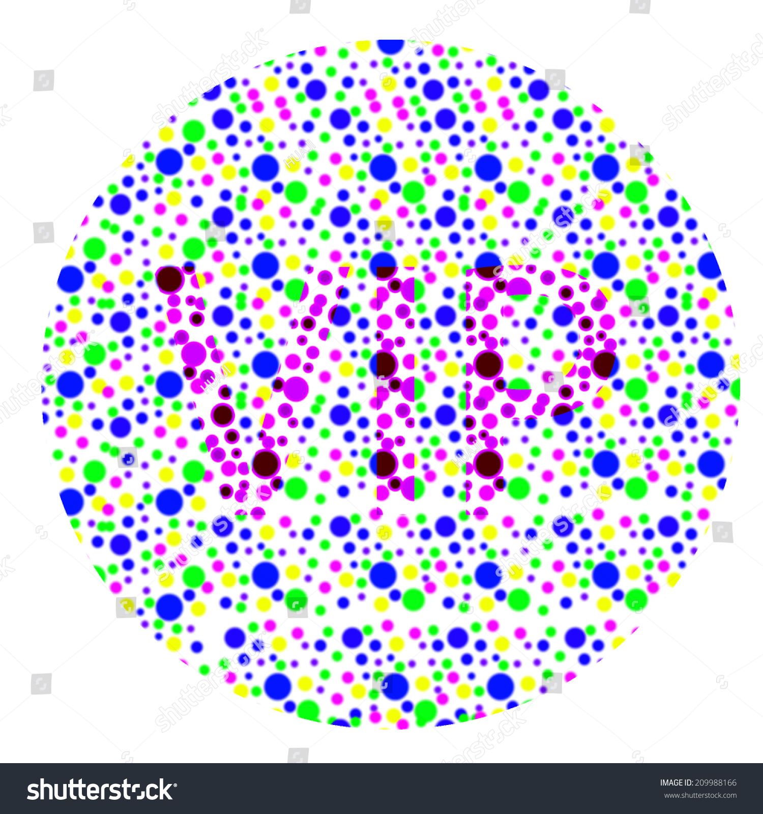 Color Blind Test Vip Stock Illustration Shutterstock