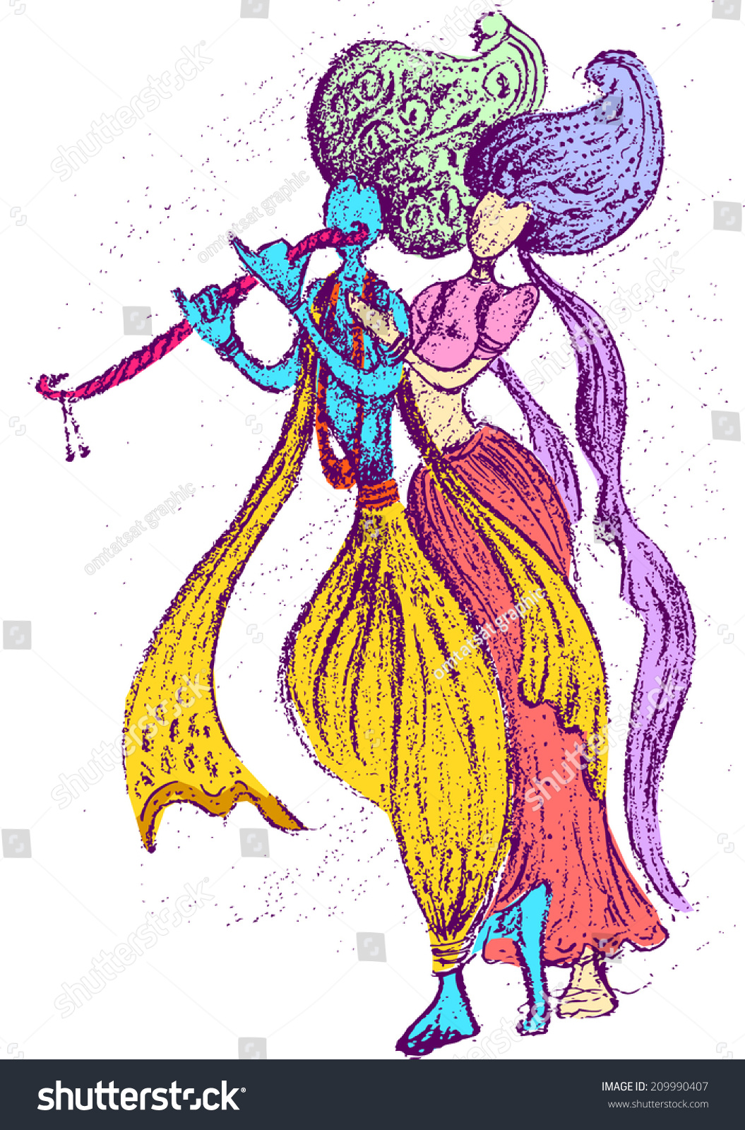 Lord Radha Krishna wall stickers Pictures for free download
