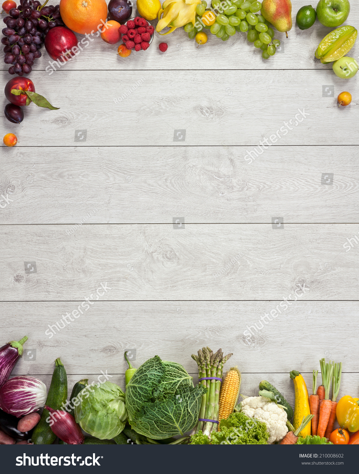 Healthy Eating Background Studio Photography Different ...