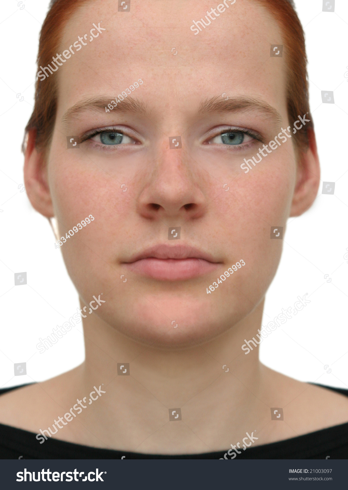 Perfect Face Socalled Perfect Face Expected Stock Photo
