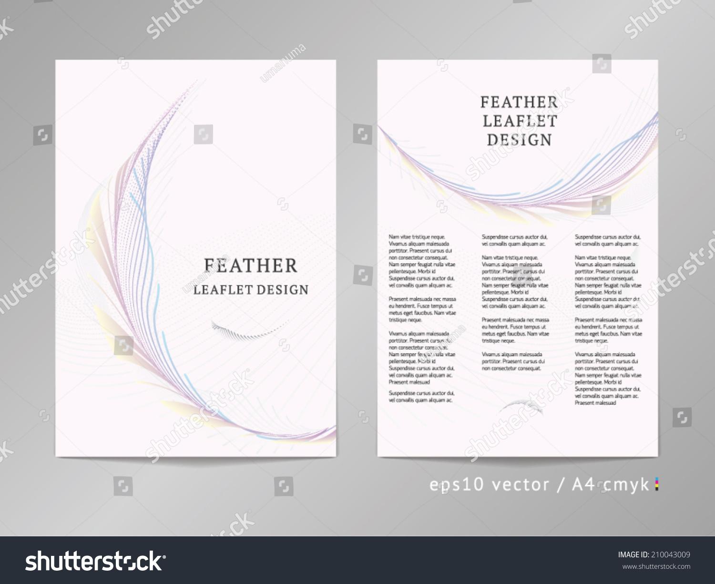 3 column brochure template threecolumn double sided vector leaflet brochure stock