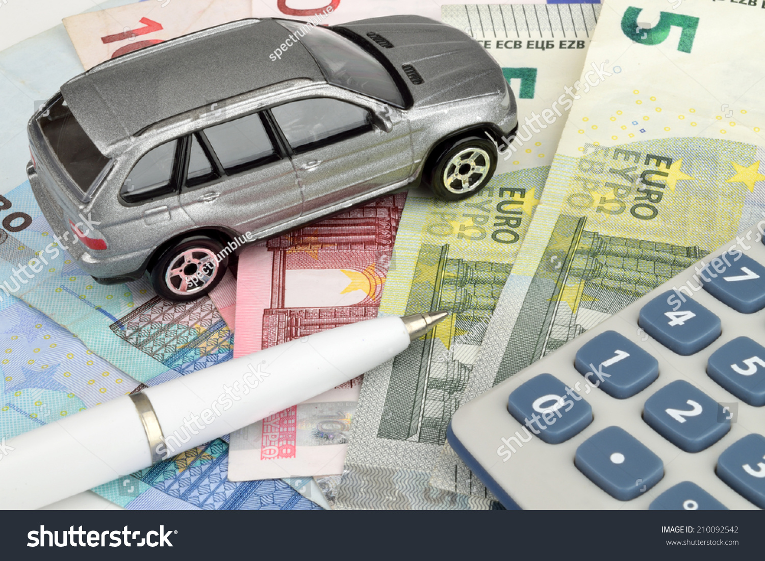 A Luxury Car On Euro Cash With A Stock Photo 210092542 Avopix Com