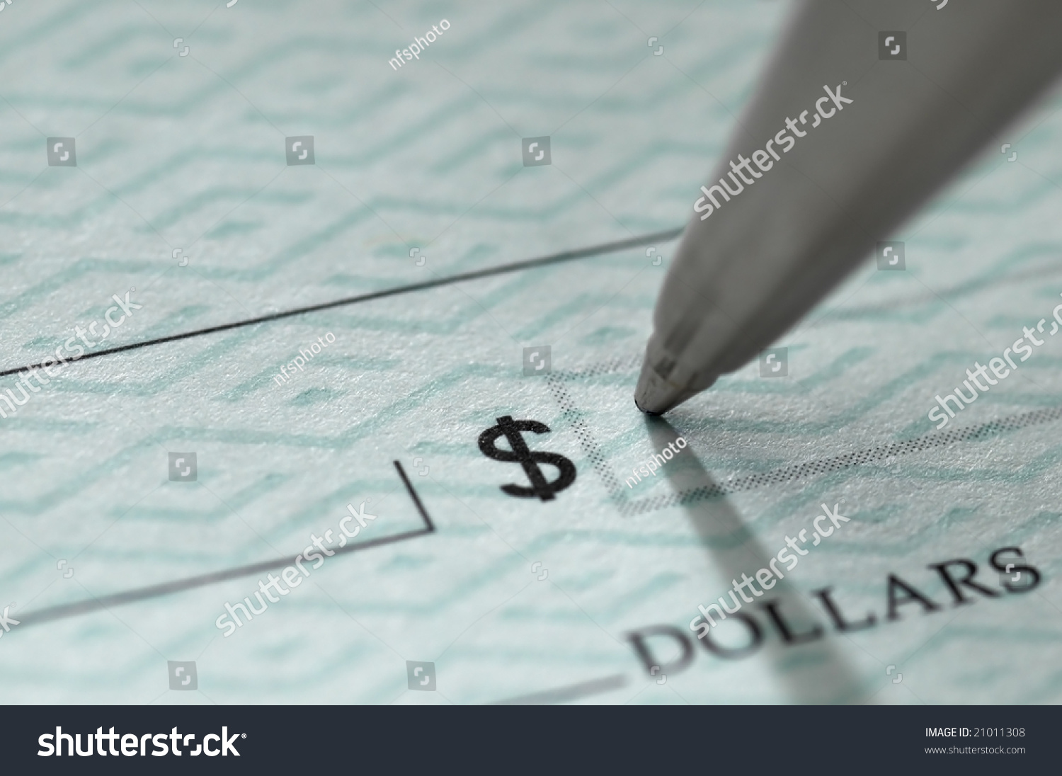 writing check amount
