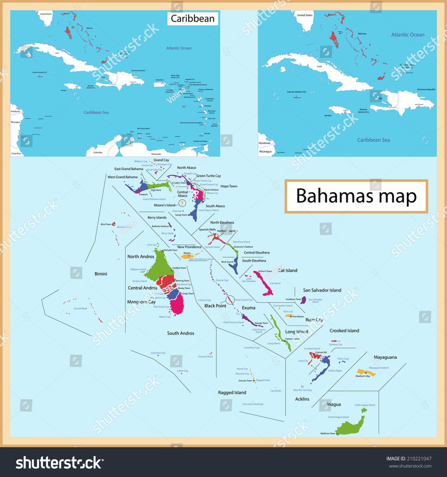 map commonwealth bahamas drawn high detail stock vector   - map of the commonwealth of the bahamas drawn with high detail and accuracy thebahamas