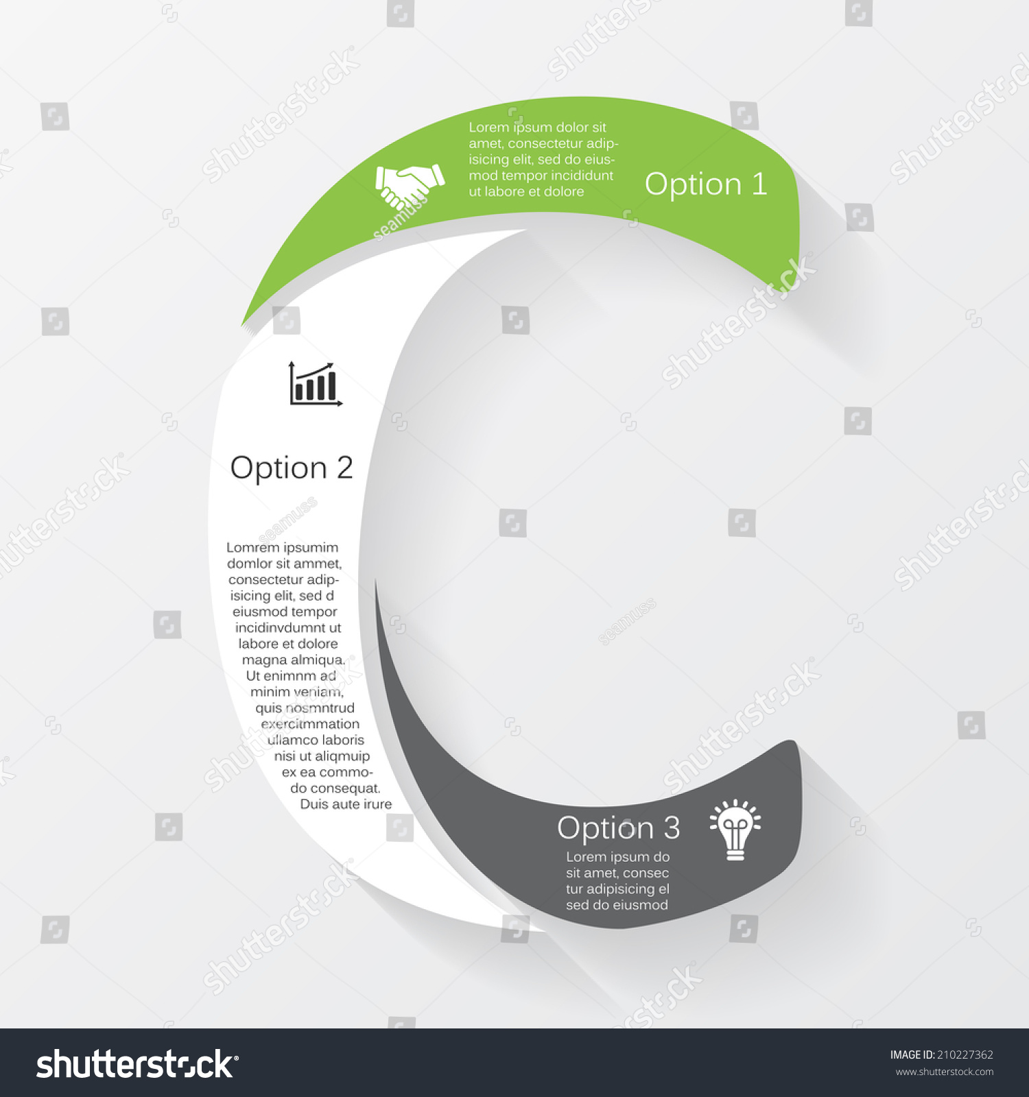vector letter c infographic template diagram stock vector, Presentation templates