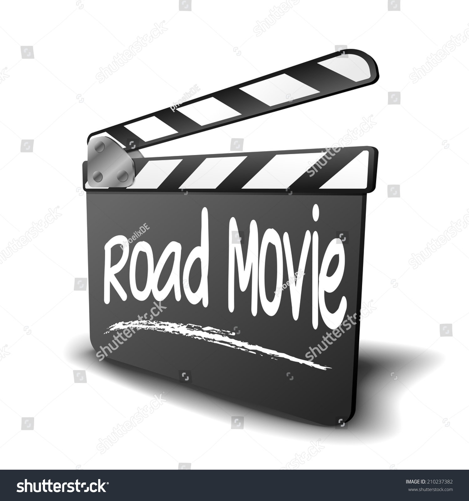 Detailed illustration clapper board road movie stock vector detailed illustration of a clapper board with road movie term symbol for film and video biocorpaavc
