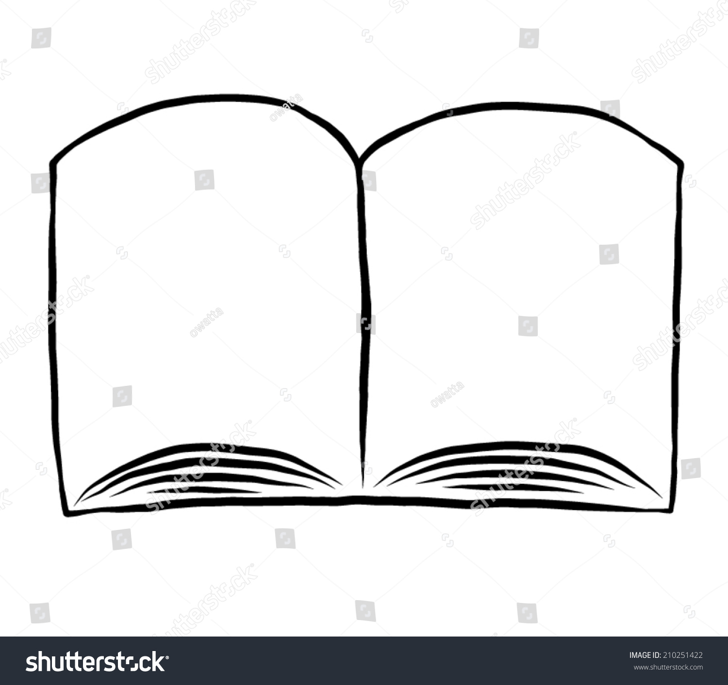 blank page book cartoon vector illustration stock vector 210251422