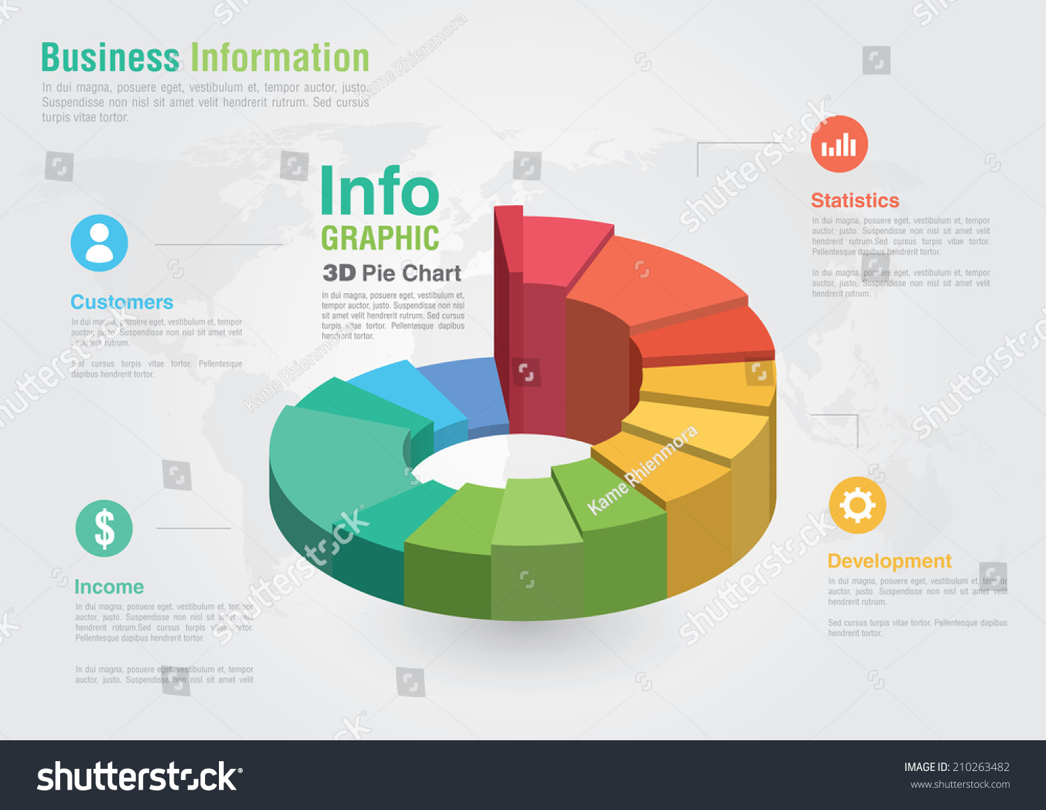 Business 3d pie chart infographic business stock vector 210263482 business 3d pie chart infographic business report creative marketing business success geenschuldenfo Image collections