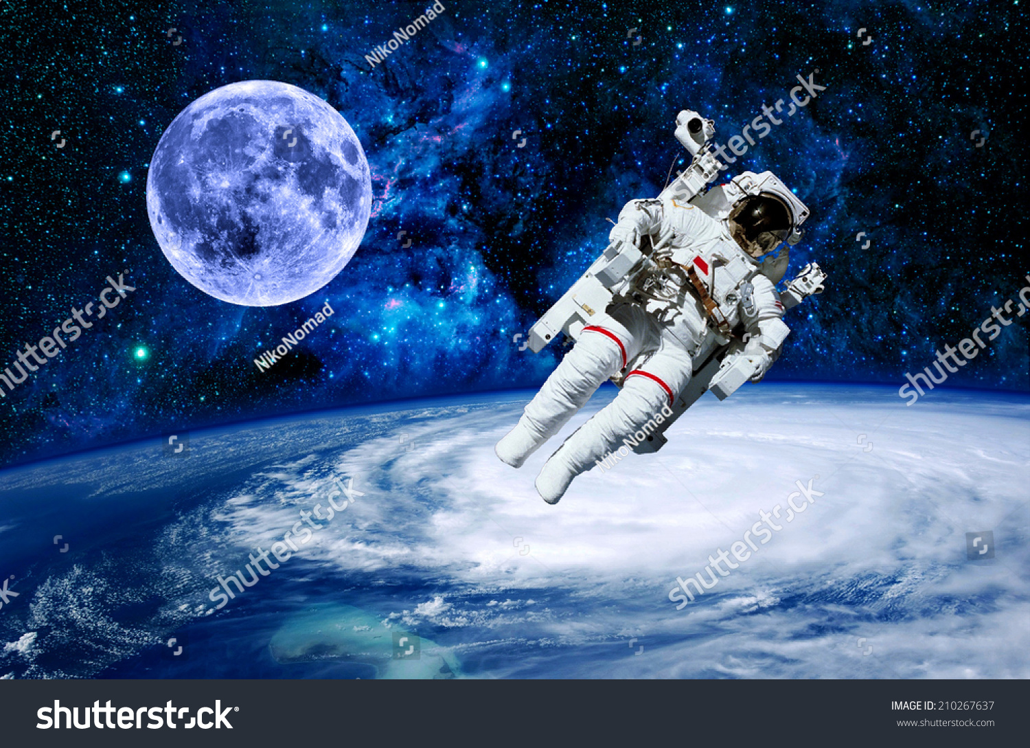 an astronaut in space will observe the sky as - photo #7