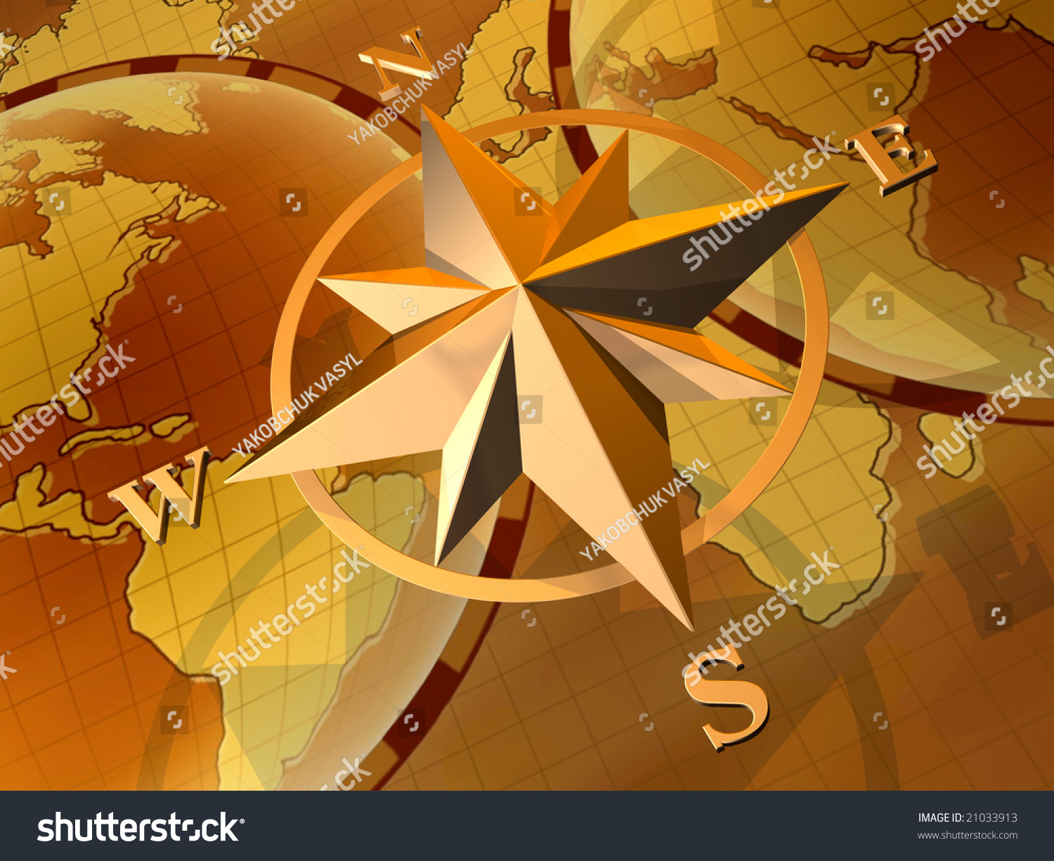 Royalty Free Stock Illustration Of Compass Rose On Background World