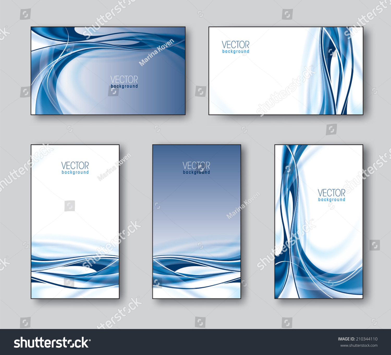 vector collection business cards t cards stock vector