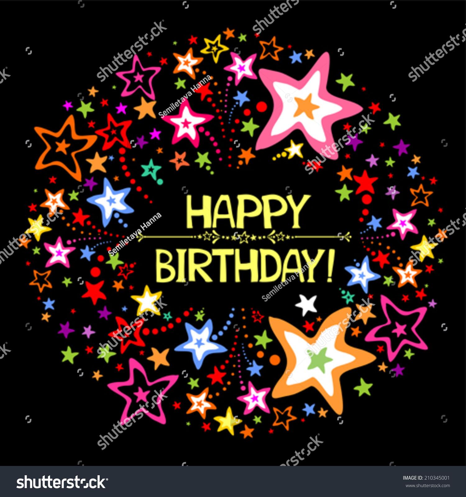 Happy Birthday Firework Vector Illustration Stock Vector
