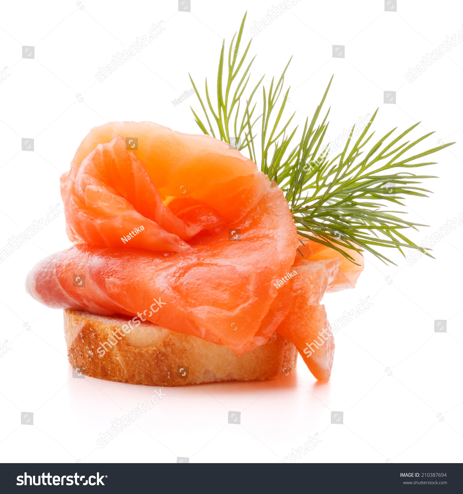 Sandwich canape salmon on white background stock photo for Canape sandwich