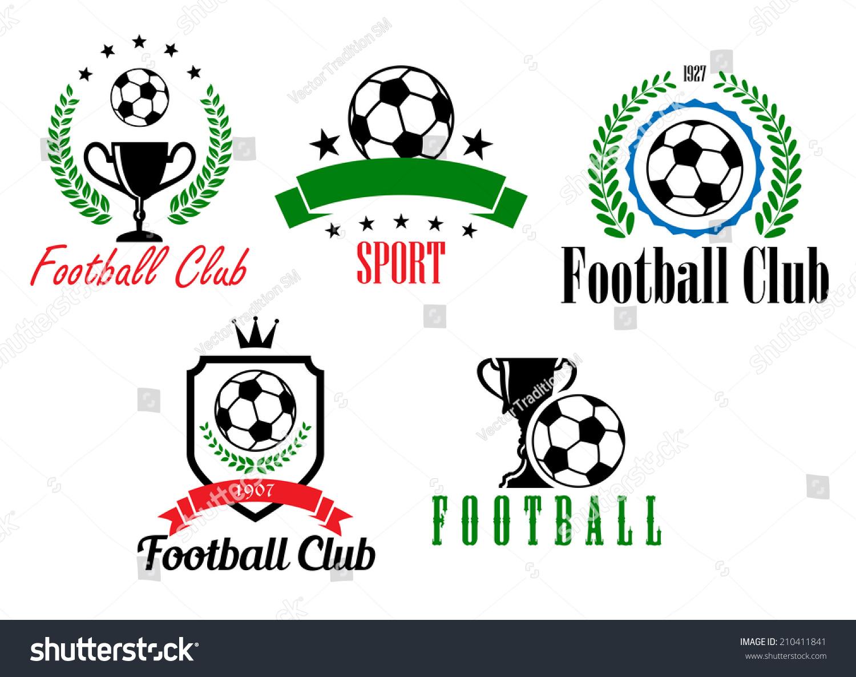 Royalty Free Football And Soccer Symbols Or Emblems 210411841