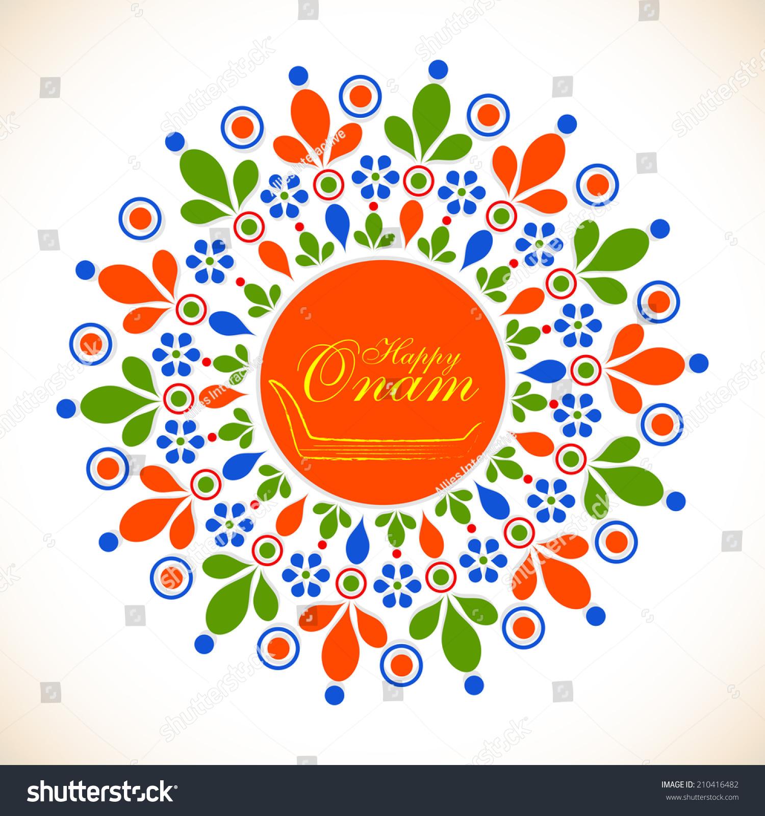 Colorful Floral Design Decorated Rangoli Snake Stock Vector ... for Flower Rangoli Vector  555kxo
