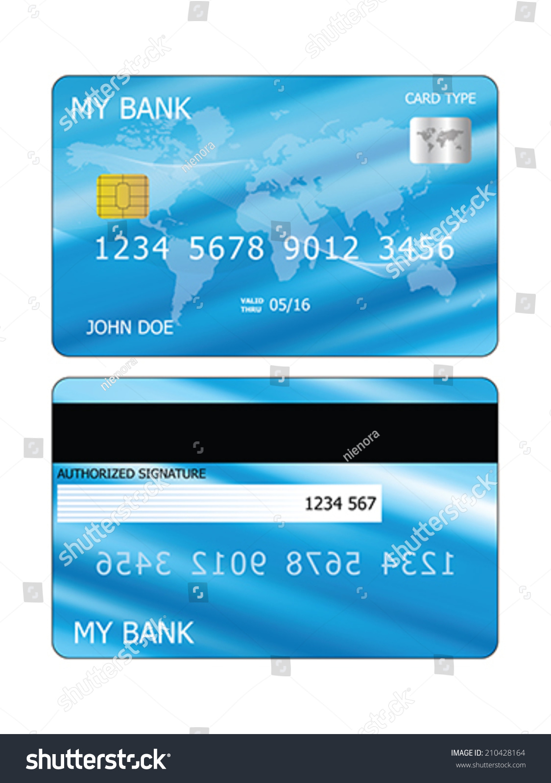 Vector Credit Card Template Both Sides 210428164