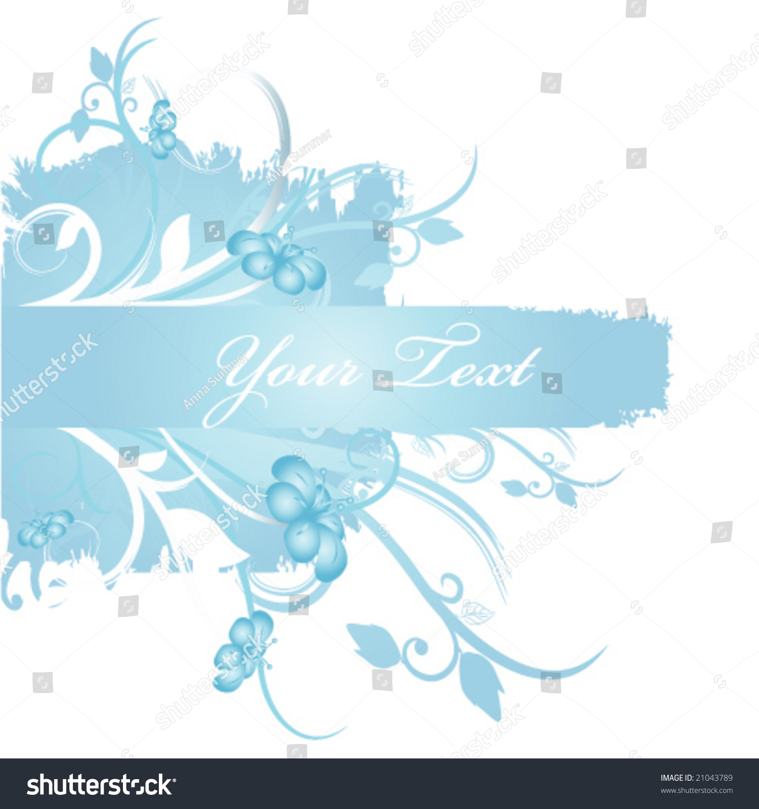 Blue Floral Backgrounds Stock Vector Royalty Free 21043789