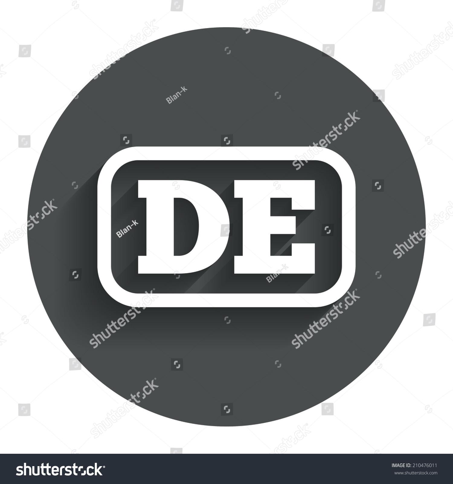 German language sign icon de deutschland stock illustration de deutschland translation symbol with frame circle flat button with biocorpaavc