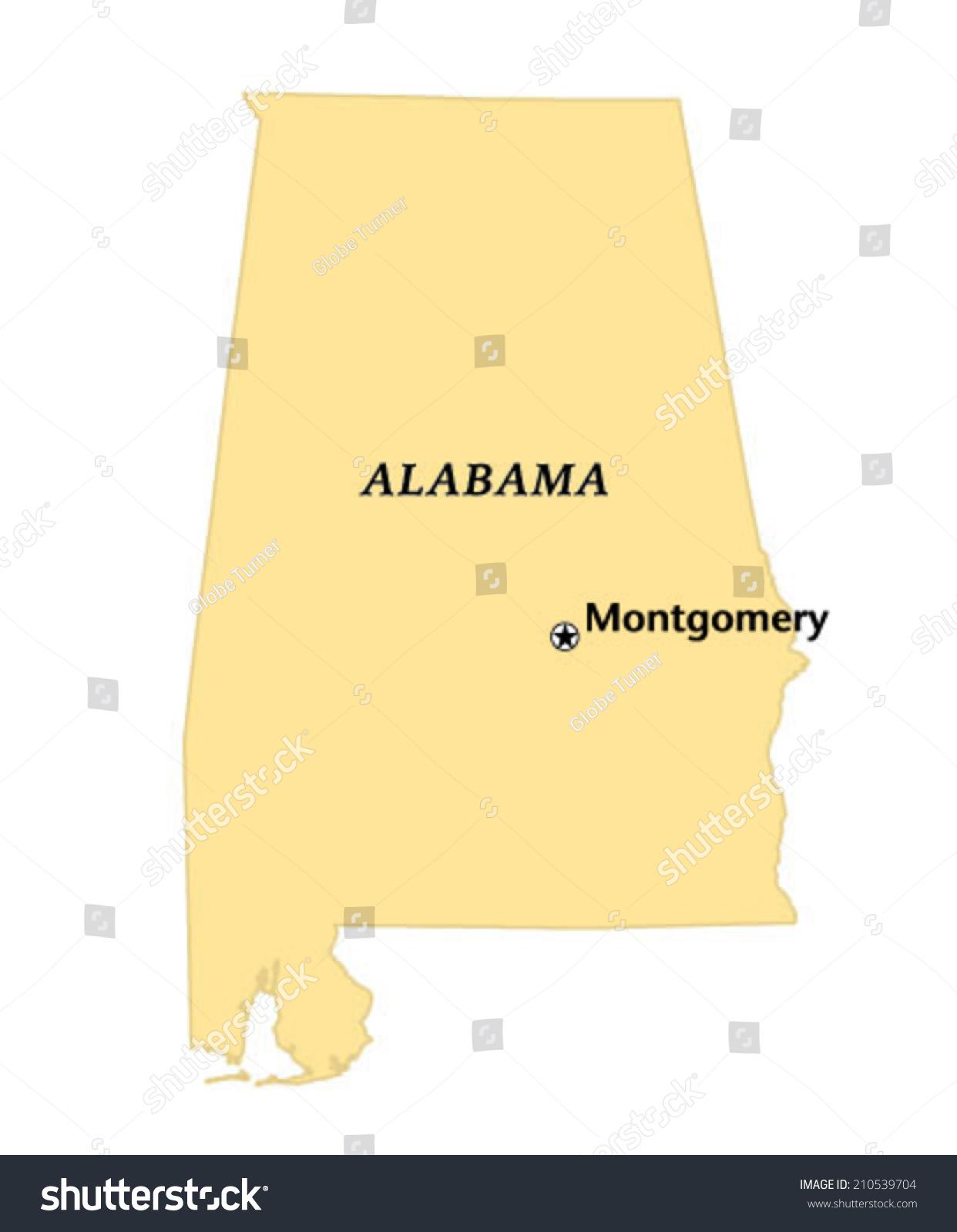 Montgomery Alabama Locate Map Stock Vector Shutterstock - Montgomery al map