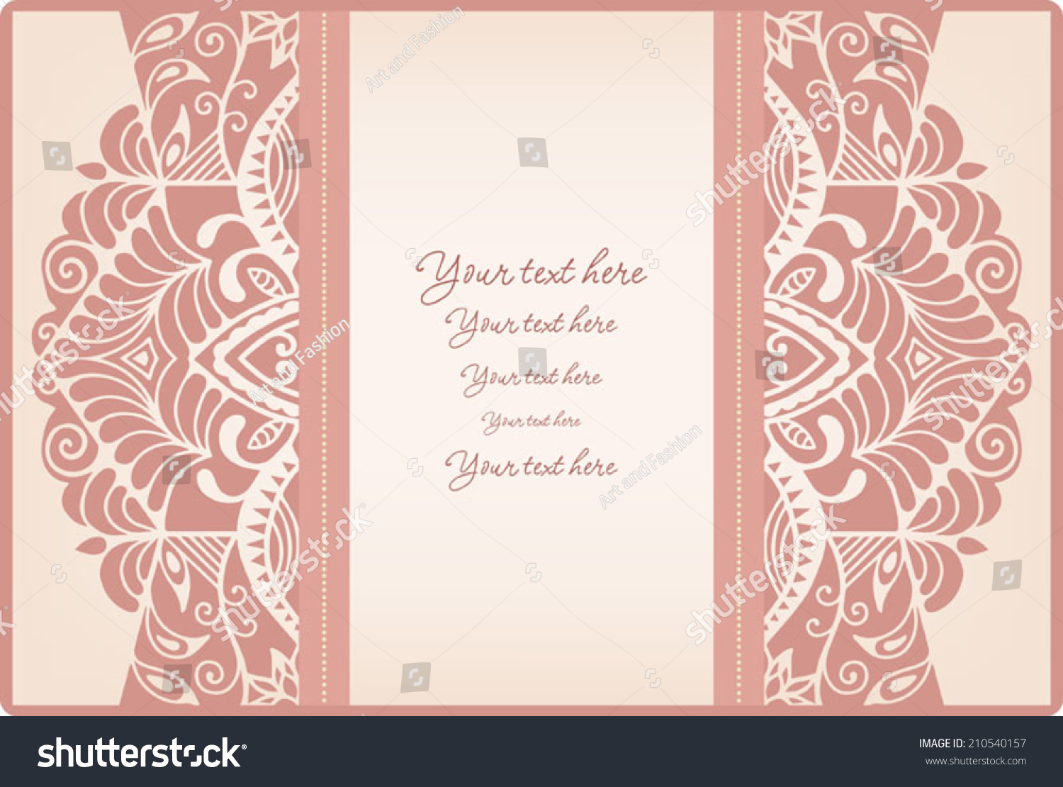 Abstract Background Lace Frame Border Pattern Stock Vector Royalty