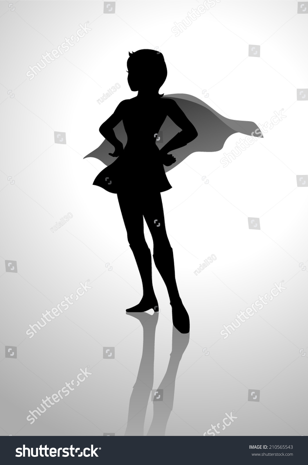 Image Gallery superwoman silhouette