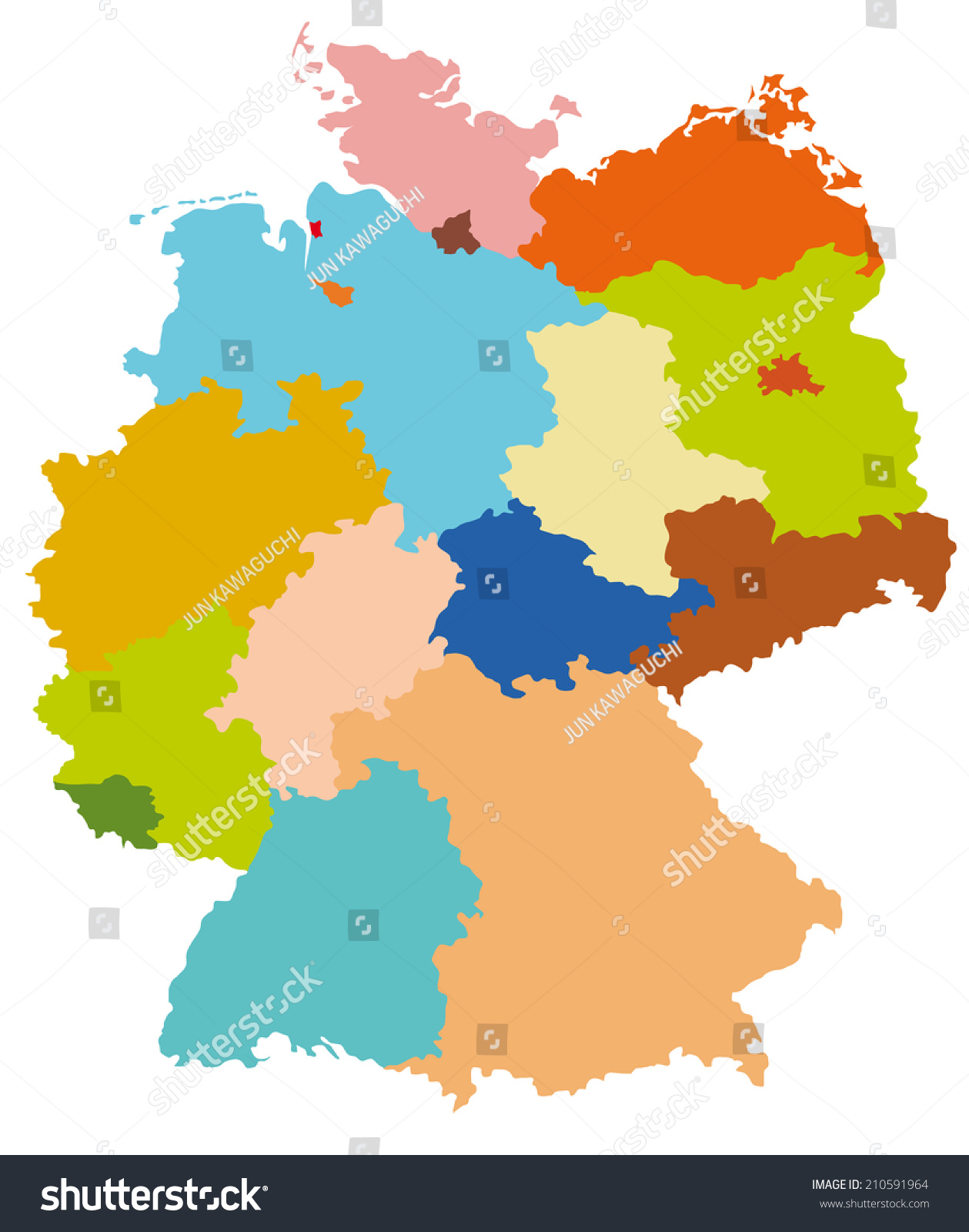 Simple Map Germany Stock Vector Shutterstock - Germany map simple