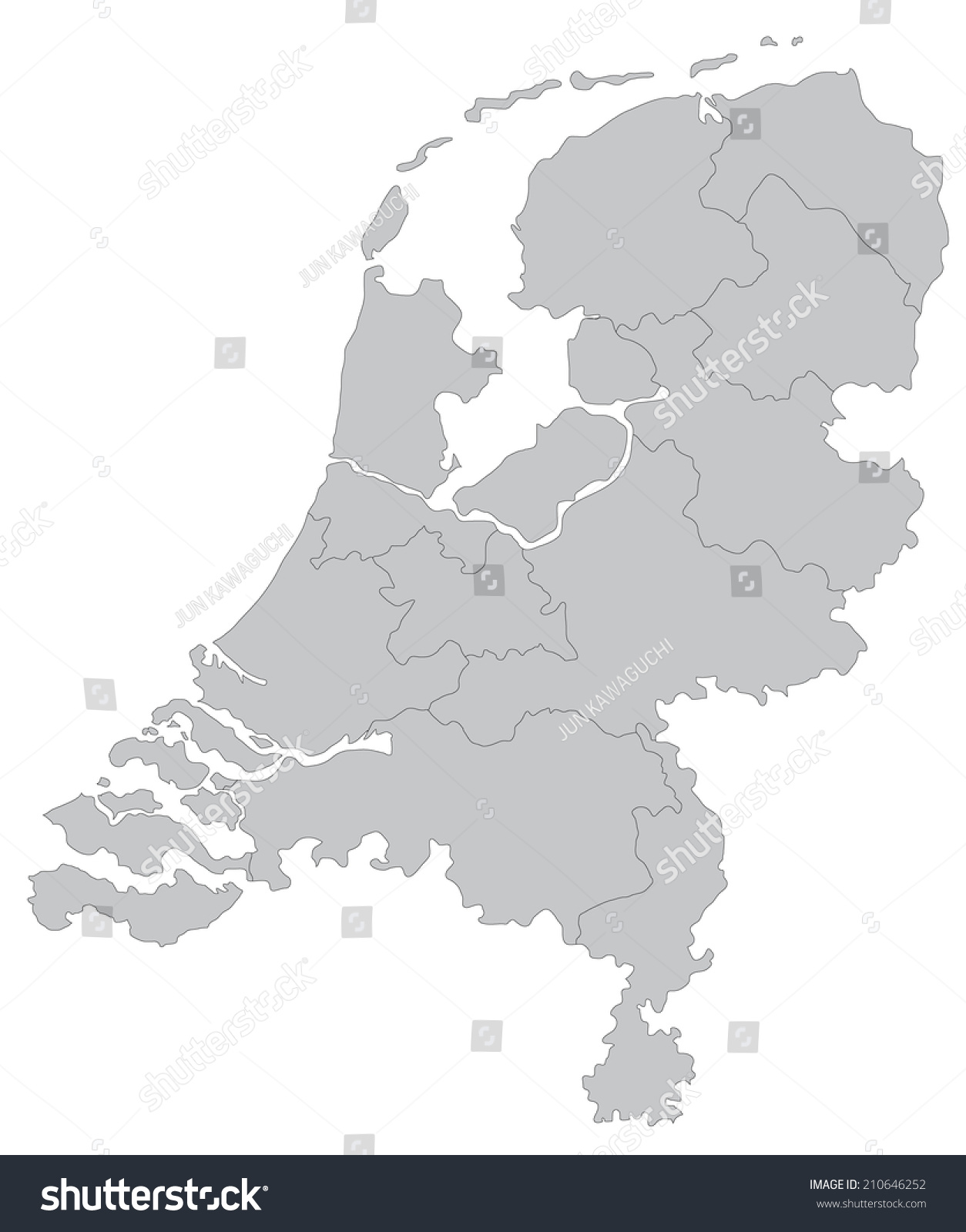 simple map of the netherlands stock vector 210646252