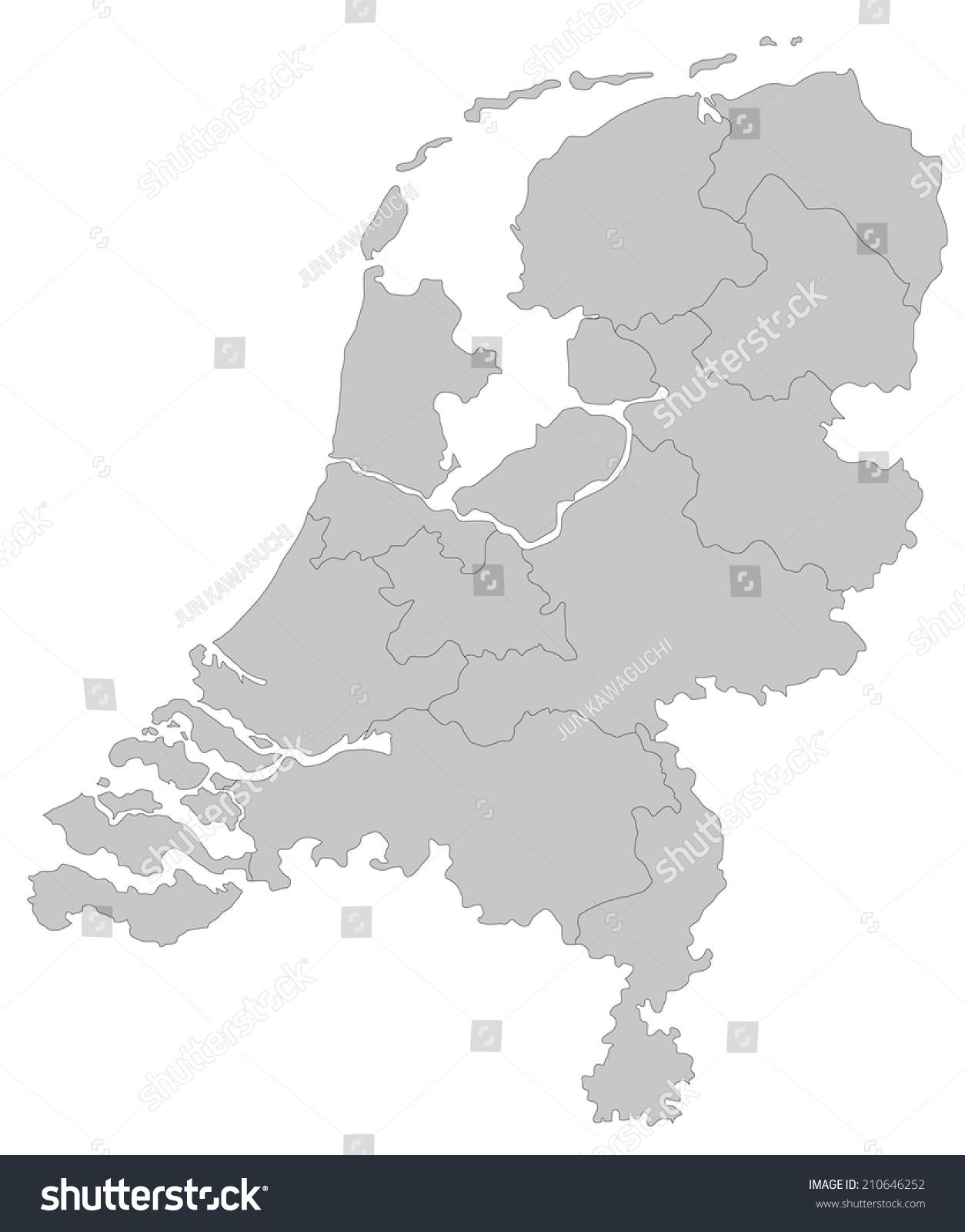 simple map netherlands stock vector 210646252 shutterstock