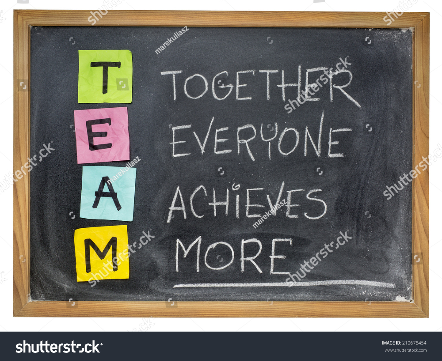 Team Acronym Together Everyone Achieves More Stock Photo 210678454 ...